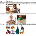 Sample After-School Visual Schedule for Kids with Sensory Needs or Impulsive/Hyperactive Behaviors