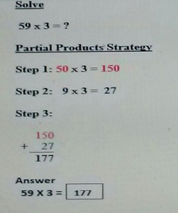 partial products strategy
